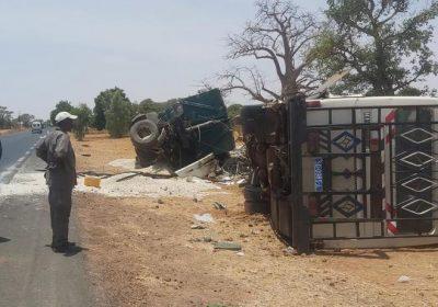 FATICK – Des vies emportées dans un violent choc entre un bus et un camion