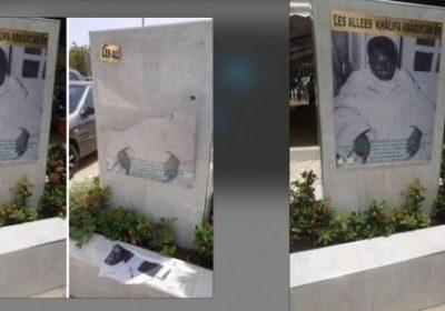 Allées Serigne Babacar Sy : La stèle du 1er khalife d'El Hadj Malick Sy profanée