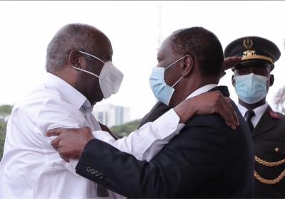 Ouattara et Gbagbo, les images du jour