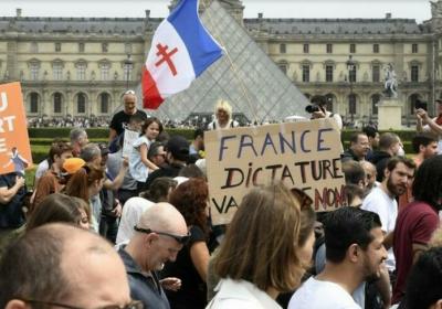 France: les opposants au «pass sanitaire» à nouveau dans les rues