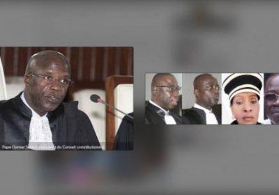 Conseil Constitutionnel :Présentation des 7 nouveaux  7 sages