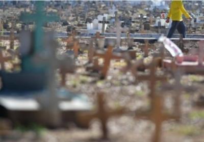 Covid-19 au Brésil: la moyenne de décès quotidiens repasse sous les 1000