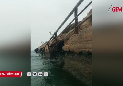 Danger sur Gorée: les barrières du débarcadère se sont effondrées